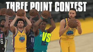 Can the 5 Worst Three Point Shooters Combined Beat Stephen Curry In A Three Point Contest? NBA 2K18!