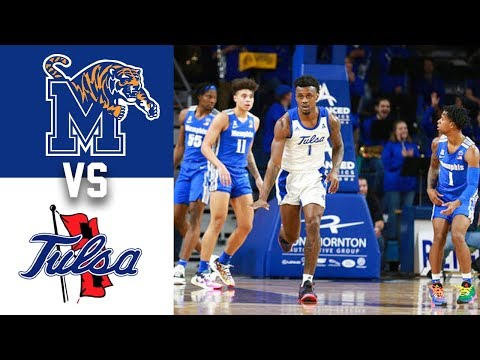 #20 Memphis vs Tulsa Highlights 2020 College Basketball