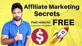 Affiliate Marketing Secrets   Paid Video Free For You!   Niche Selection   Hindi
