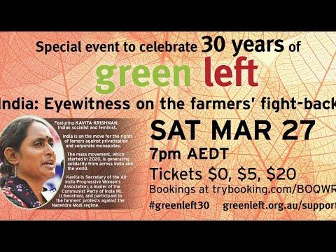 Green Left 30th anniversary celebration with Kavita Krishnan