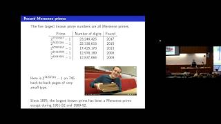 """CTNT 2018 - """"The Biggest Known Prime Number"""" by Keith Conrad"""