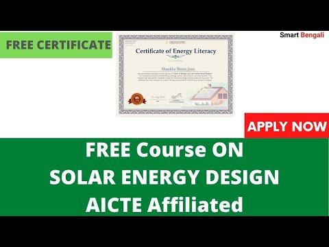 Earn Free Certificate on Solar Energy Technology AICTE - YouTube