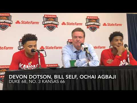 Self, Agbaji, Dotson break down KU's loss to Duke