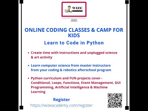 , title : 'Learn to code in Python with Wize Computing Academy