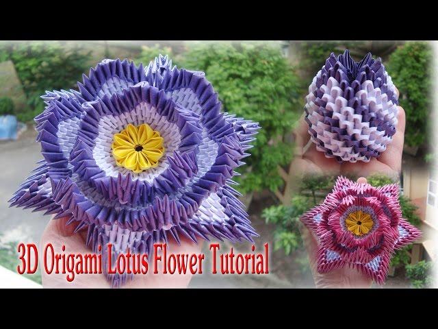 3d Origami Lotus Flower Step By Step Flowers Healthy