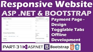 Responsive Website-ASP.NET&Bootstrap-Part 31-Online Shopping Site-Payment Page Design-Togglable Tabs