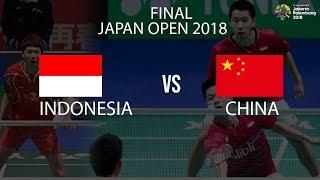 Sedang Berlangsung, Final Japan Open 2018 Marcus/Kevin vs Li/Liu, Indonesia Menang Game Pertama