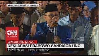 Zulkifli Hasan Sindir Soal Kasus Novel Baswedan Di Deklarasi Prabowo-Sandiaga Uno