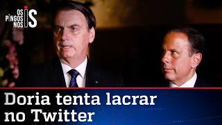 Bolsonaro defende papel das Forças Armadas; Doria critica