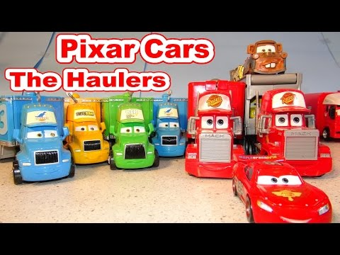 Disney Pixar Cars The Haulers With Mack And Lightning McQueen Off Road Mater And More
