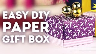 How To Make A Box Out Of Paper 5 Minute Crafts Free Video Search
