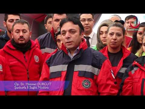 Şanlıurfa İl Sağlık Müdürlüğü 2018 Deprem Konulu Masa Başı ve Saha Tatbikatı