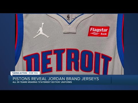 Pistons join all NBA teams by putting Jordan logo on Statement jerseys