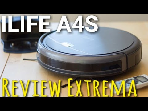 ILIFE A4S Review aspirando alfombra tras un año sin limpiar Review Español ILIFE A4S vacuum robot