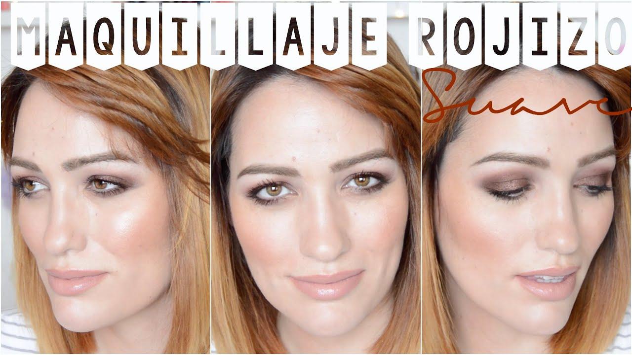 Cómo maquillarse con sombras rojizas - Opción suave