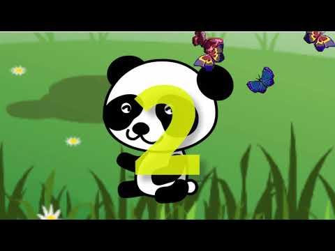На лугу. Рисуем и Считаем до 5. Слон, панда, лягушка, сова и пони.