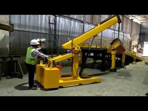 Battery Operated Boom Floor Crane