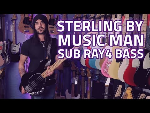 Sterling by Music Man Sub Ray4 Bass Guitar Demo & Review