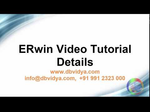 erwin data modeler video tutorial