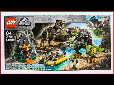 UNBOXING LEGO 75938 Jurassic World T. rex vs Dino-Mech Battle Speed Build