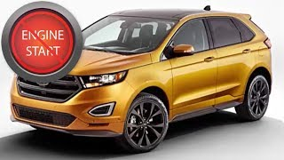 Ford Edge with a dead key fob: Get in and start push button start models.