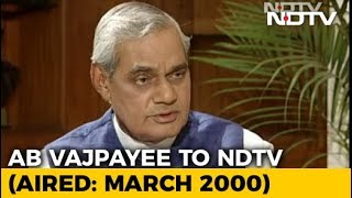 """India Has To Run On Consensus"": Atal Bihari Vajpayee On Coalition Politics (Aired: March 2000)"