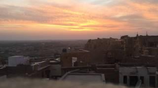 Watching the sunset in Jaisalmer, Rajasthan, India