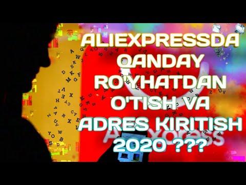 ALIEXPRESSDA QANDAY RO'YXATDAN O'TISH VA ADRESS KIRITISH 2020/АЛИЭКСПРЕССДА КАНДАЙ РОЙХАТДАН УТИШ