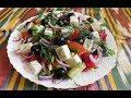 салат греческий/очень вкусно и полезно/осон,бринзали,байрам, салатлар/salatlar tayyorlash uzbekayoli