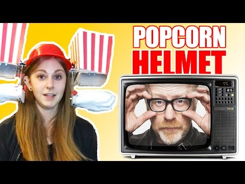 I made a popcorn helmet with Adam Savage