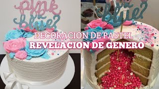 Gender Reveal Cake /Pastel Revelacion De Género Con Sprinkles Adentro