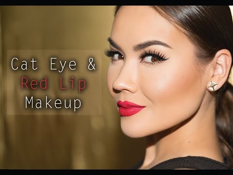 Cat Eye + Red Lip Makeup Tutorial
