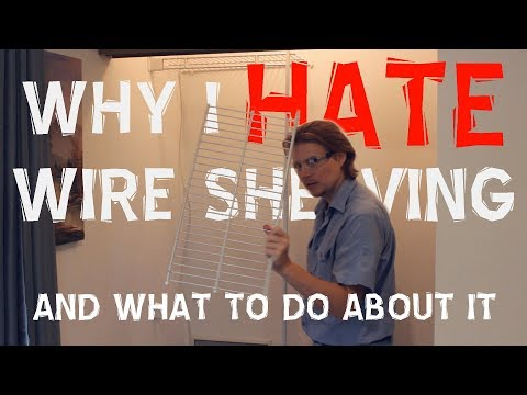 DIY How to Repair Closet Wire Shelves Falling Off Walls