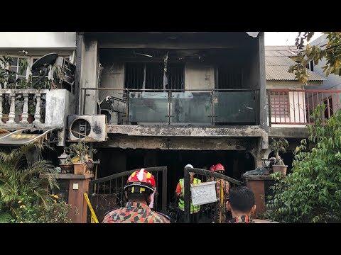 Tiga sekeluarga maut dalam kebakaran rumah