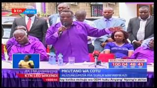 Katibu mkuu wa COTU-Francis Atwoli ampongeza rais Uhuru Kenyatta na Jubilee kwa uchaguzi wa mchujo