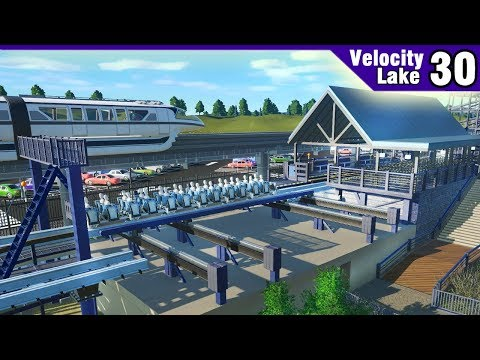 Velocity Lake (ep. 30) -  Building the RMC Station + Track Tunnels! | Planet Coaster