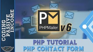 PHP Tutorial: Create Contact Form & Send an Email With Attachment Using PHPMailer v6