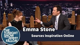 <b>Emma Stone Sources Inspiration Online</b>
