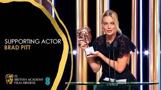 Margot Robbie's Hilarious Speech for Brad Pitt's Supporting Actor Win   EE BAFTA Film Awards 2020