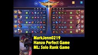 Markjenn0219 Hanzo perfect game