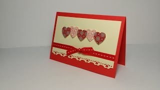 Мастер-класс открытка на День Святого Валентина. Valentine's Day Card tutorial.