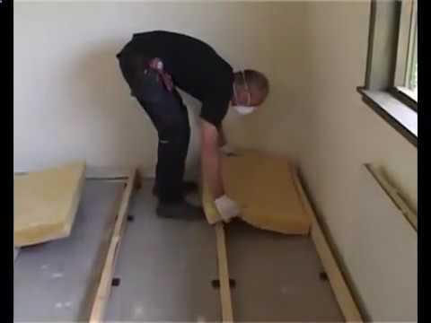 Настелить деревянный пол в квартире - просто - смотреть видео