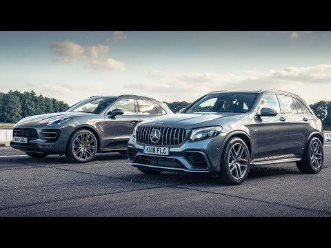 Mercedes-AMG GLC 63 vs Porsche Macan PP   Top Gear: Drag Races