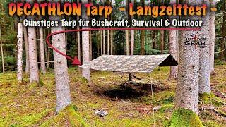 Decathlon Tarp Solognac  Bushcraft & Outdoor  Camouflage - Langzeittest -