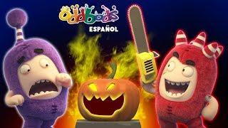 Oddbods - Experimento Resurrección de Halloween | Dibujos Animados de Miedo | Caricaturas para Niños