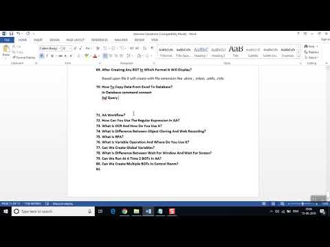 Automation anywhere Interview and certification questions Part 6 ...
