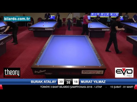 BURAK ATALAY & MURAT YILMAZ Bilardo Maçı - 2018 ERKEKLER 1.ETAP-2. Tur