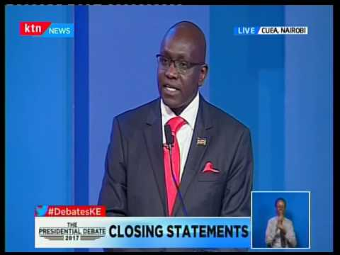 Presidential Candidate Ekuru Aukot corrects opponent Japeth Kaluyu