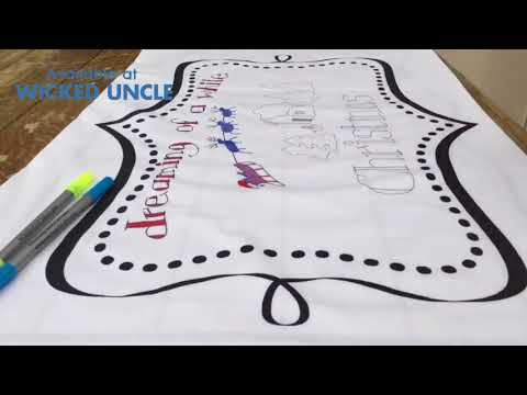 Youtube Video for Doodle PILLOWCASE - Draw & Wash out