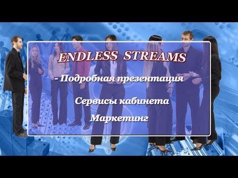 ENDLESS STREAMS - Подробная презентация. Кабинет сервиса. Маркетинг